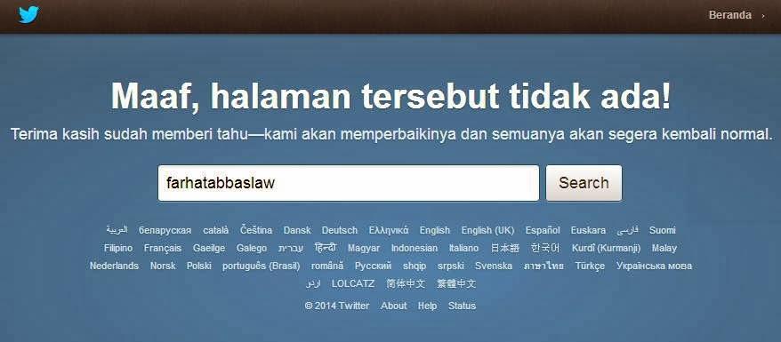 Akun Twitter Farhat Abbas Ditutup