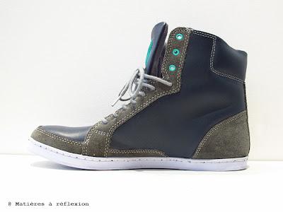 Sneakers Piola homme slippery elm bleu/vert