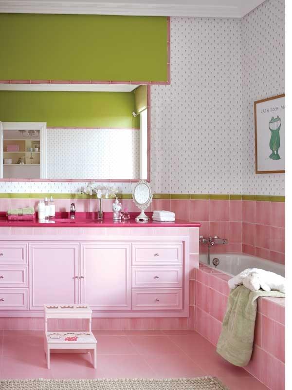 Casa Diez Baños   Deco Design Mn Bano Rosado