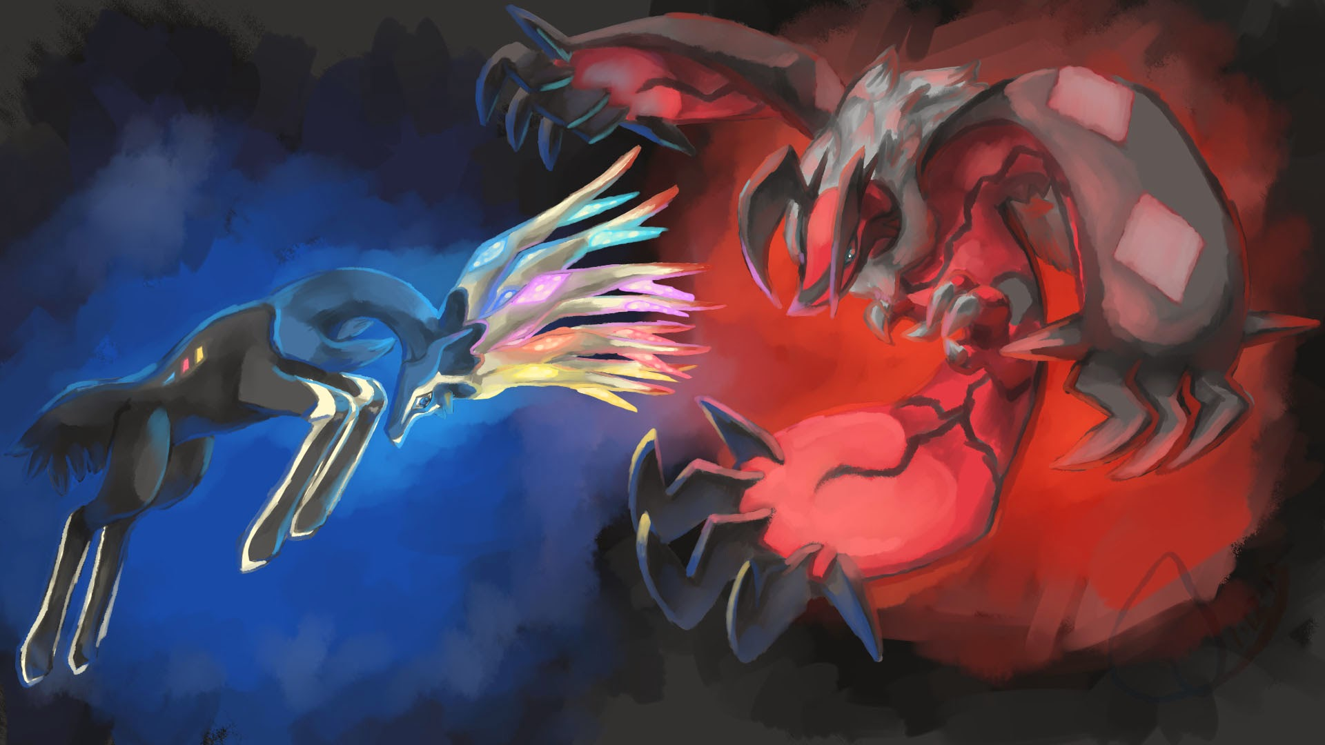 ... deviant art anime hd wallpaper ... Xerneas And Yveltal And Zygarde