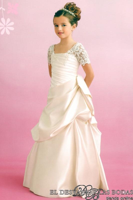 Excelente Vestido De Novia Para La Niña Ideas Ornamento Elaboración ...