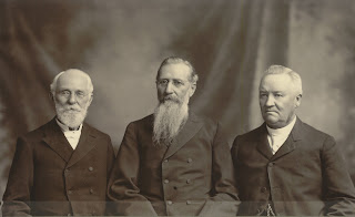The First Presidency of The Church of Jesus Christ of Latter-Day Saints in 1905. From left to right: John Rex Winder, Joseph Fielding Smith, and Anthon Hendrik Lund. Public Domain; Courtesy Church History Collections, The Church of Jesus Christ of Latter-day Saints and Intellectual Reserves, Inc