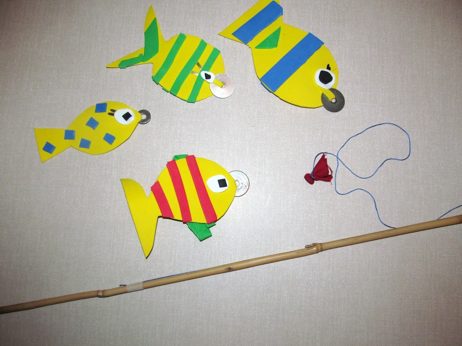Luv boopa kids craft magnetic fishing pole game for Fishing pole for kids