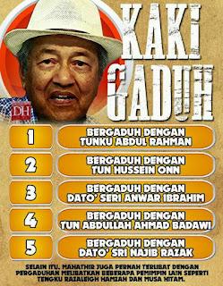 Mahathir Kaki Gaduh