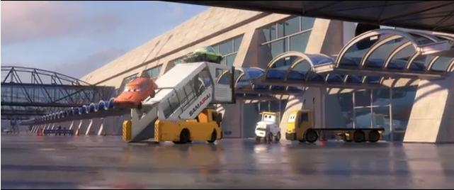 fuga cars2 aeropuerto