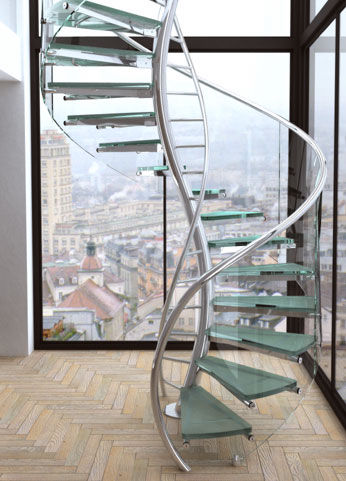 Escaleras originales decorativas y funcionales decorar for Escaleras decorativas