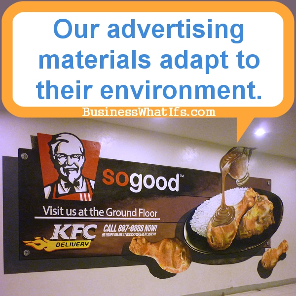 KFC Delivery Ad at the Virtual Zoo in Tutuban Center Mall