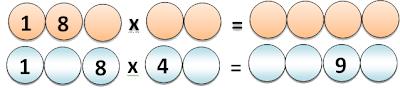 Problemas de Lógica, Problemas de Ingenio matemático, La Multiplicación
