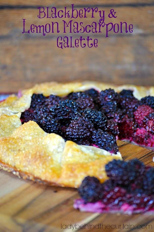 http://www.ladybehindthecurtain.com/blackberry-and-lemon-mascarpone-galette/