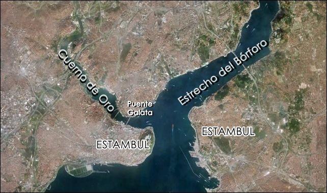 Mapa-Bósforo-Cuerno-de-Oro-Estambul