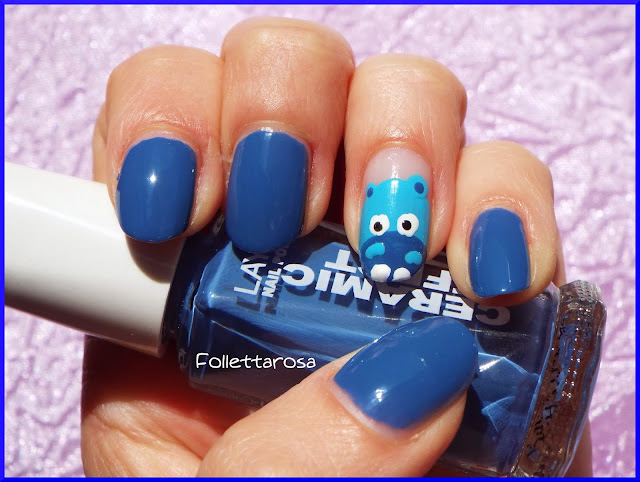 nail art happy hippo