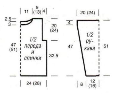 http://www.vyazemsami.ru// Рельефный пуловер и шарф «петля» Выкройка