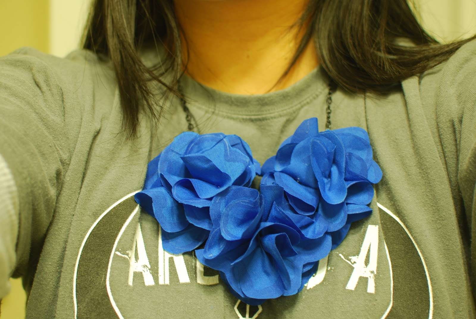 simply pinspirational  diy fabric flower necklace