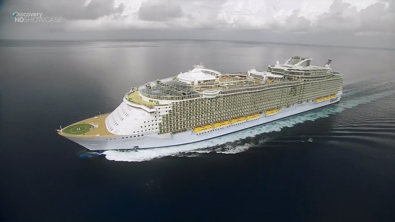 How is the largest cruise ship in the world