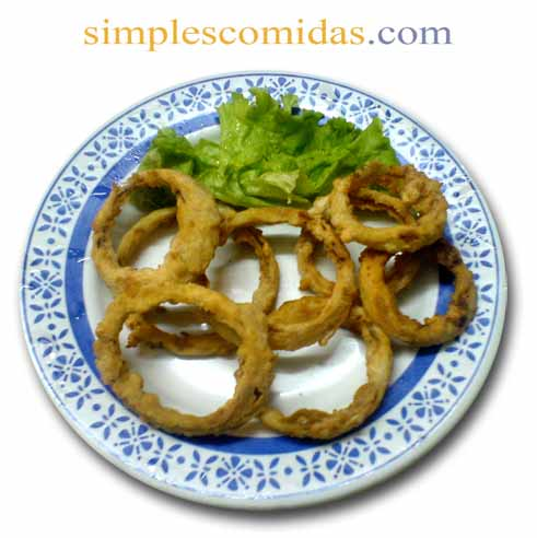 aritos de cebolla frita