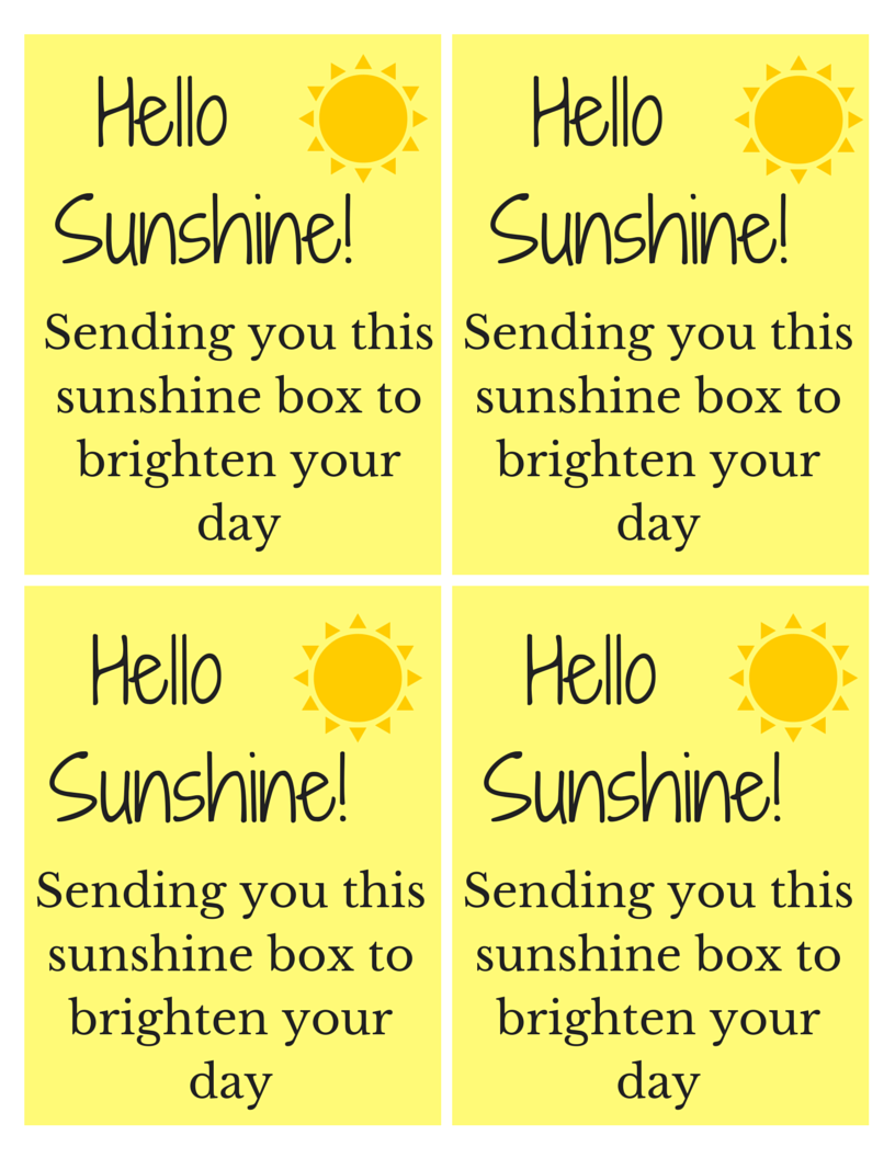 Striking image with box of sunshine printable