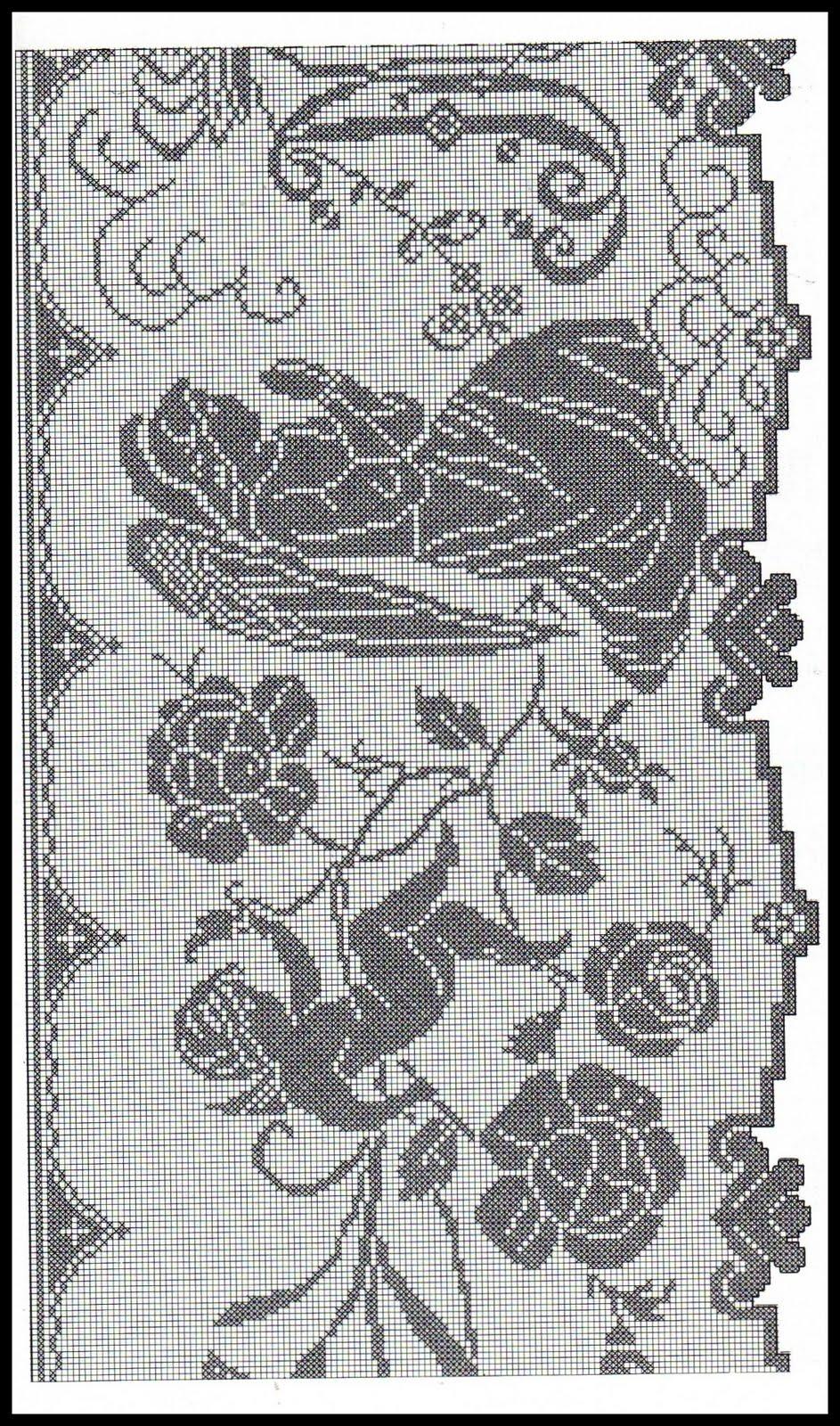 Lo spazio di lilla a gentile richiesta uva a filet for Bordure uncinetto schemi