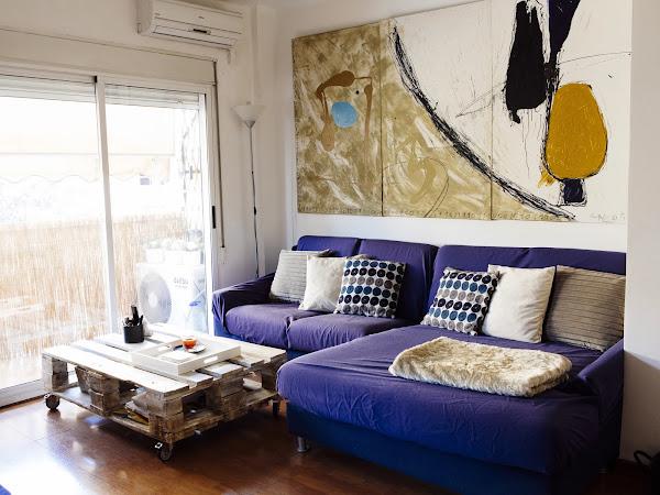 Salon blanco y arena decorar tu casa es - Decorar mi salon ...
