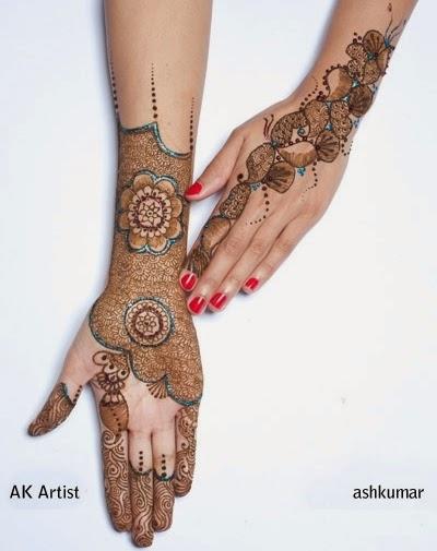 Latest Mehndi Designs By Ash Kumar : Ash kumar mehndi designs book for eid