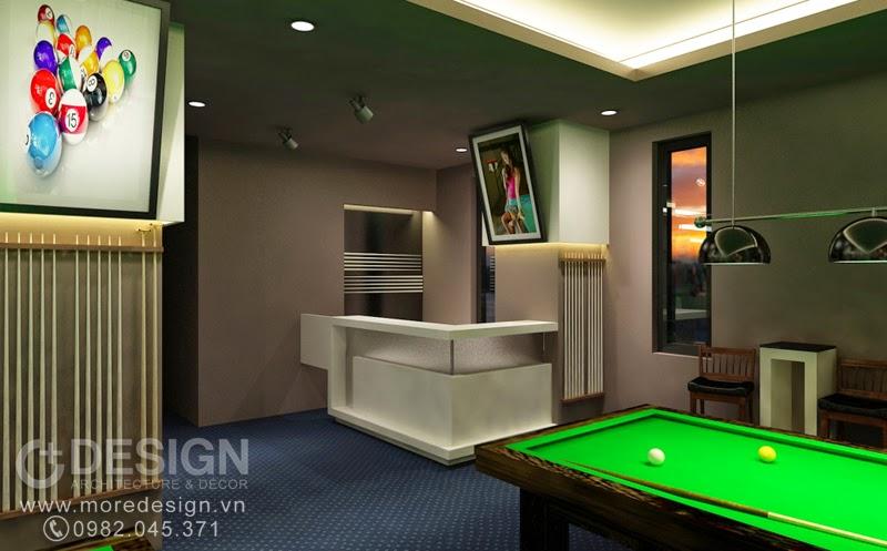 Thiết kế nội thất khu bida