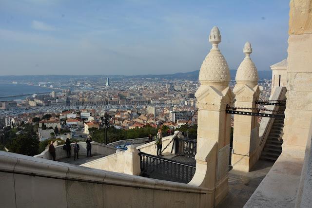 Basilica Notre-Dame de la Garde Marseille view