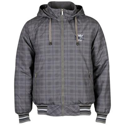 Everlast Men's Hood All Over Print Jacket - Charcoal/Black