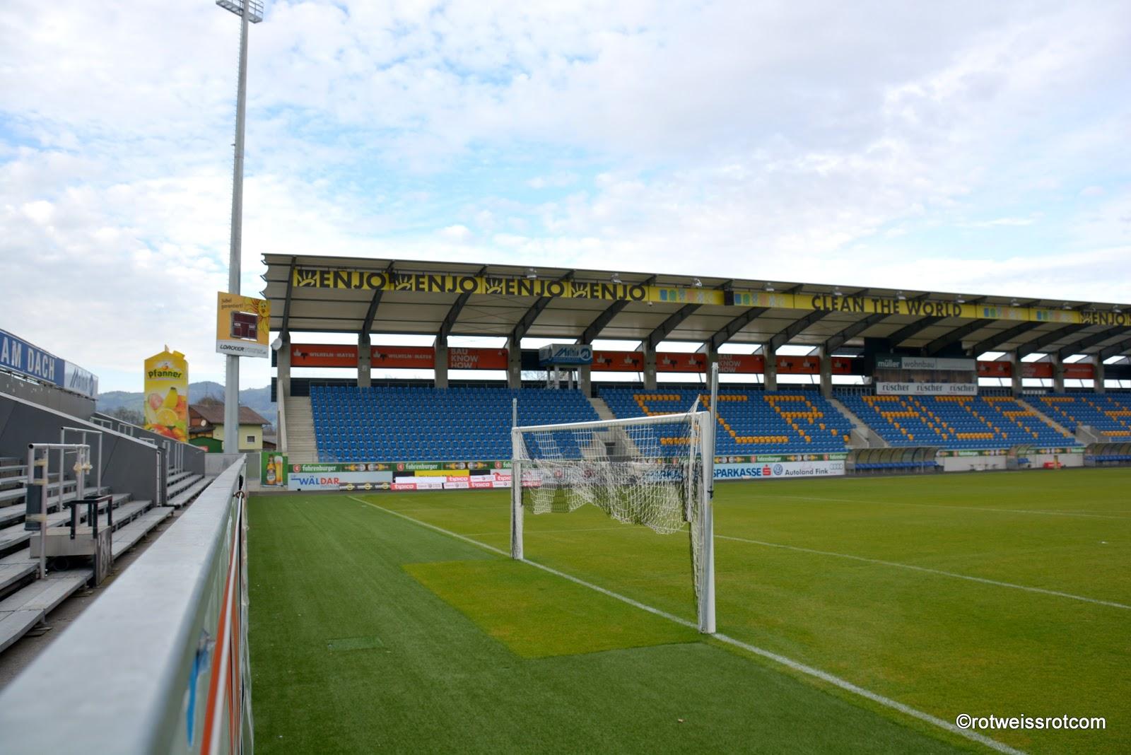 Rotweissrotcom 25 Jahre Cashpoint Arena Fussballstadion