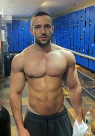 Shirtless Athletic Man Locker Room