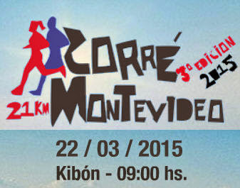 Corré Montevideo (21k 10k 5k, Kibón, 22/mar/2015)