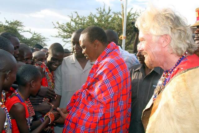 Photos/Video:Uhuru opens billionaire Richard Branson camp in Mara