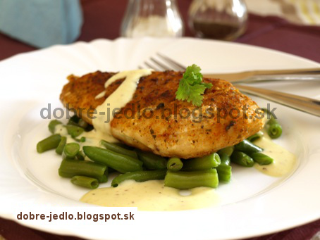 Kuracina so zelenými fazuľkami a horčicovou omáčkou - recepty