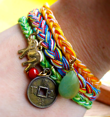I Made A Set Out Of My Three Friendship Bracelets With Coordinating Charms Here Are The Photos