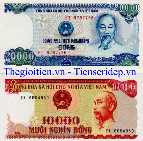 Tiền 20 000 cotton xanh