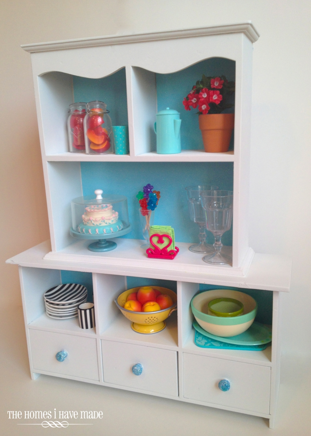 A Doll-Sized China Hutch - A (Mini) Furniture Makeover! | The Homes ...
