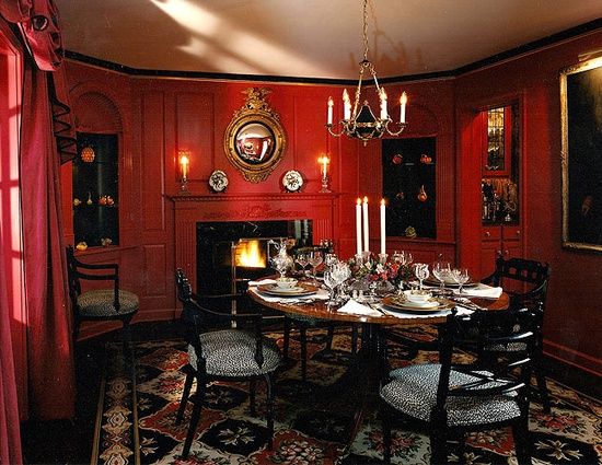 Eye for design decorate your home with red - Red and gold interior design ...