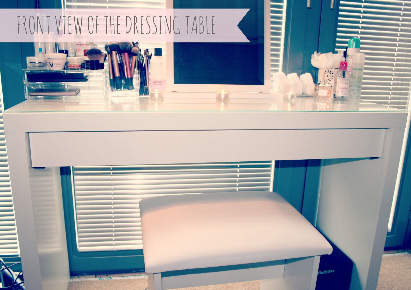 My makeup storage ikea malm dressing table couture girl - Ikea simulation dressing ...