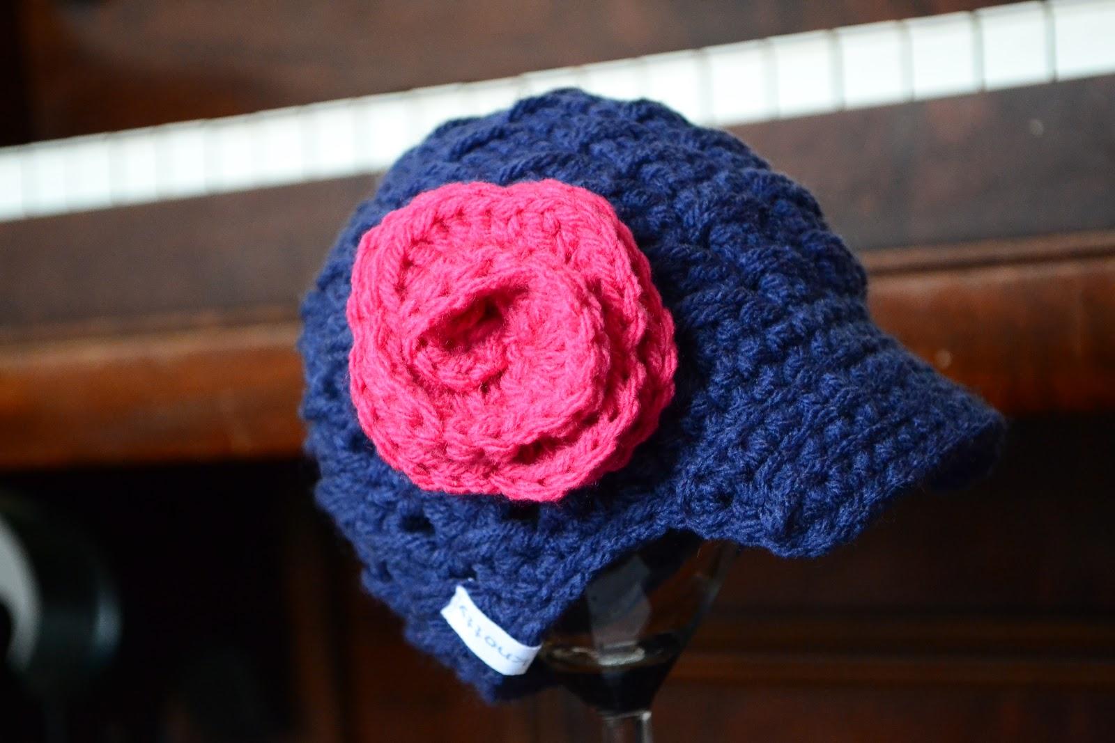 Knotty Knotty Crochet: Newborn Newsboy hat FREE PATTERN