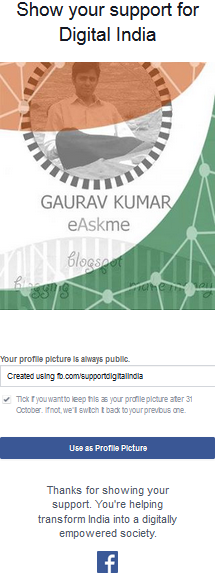 Support Digital India : Gaurav Kumar and Mark Zukerberg : eAskme