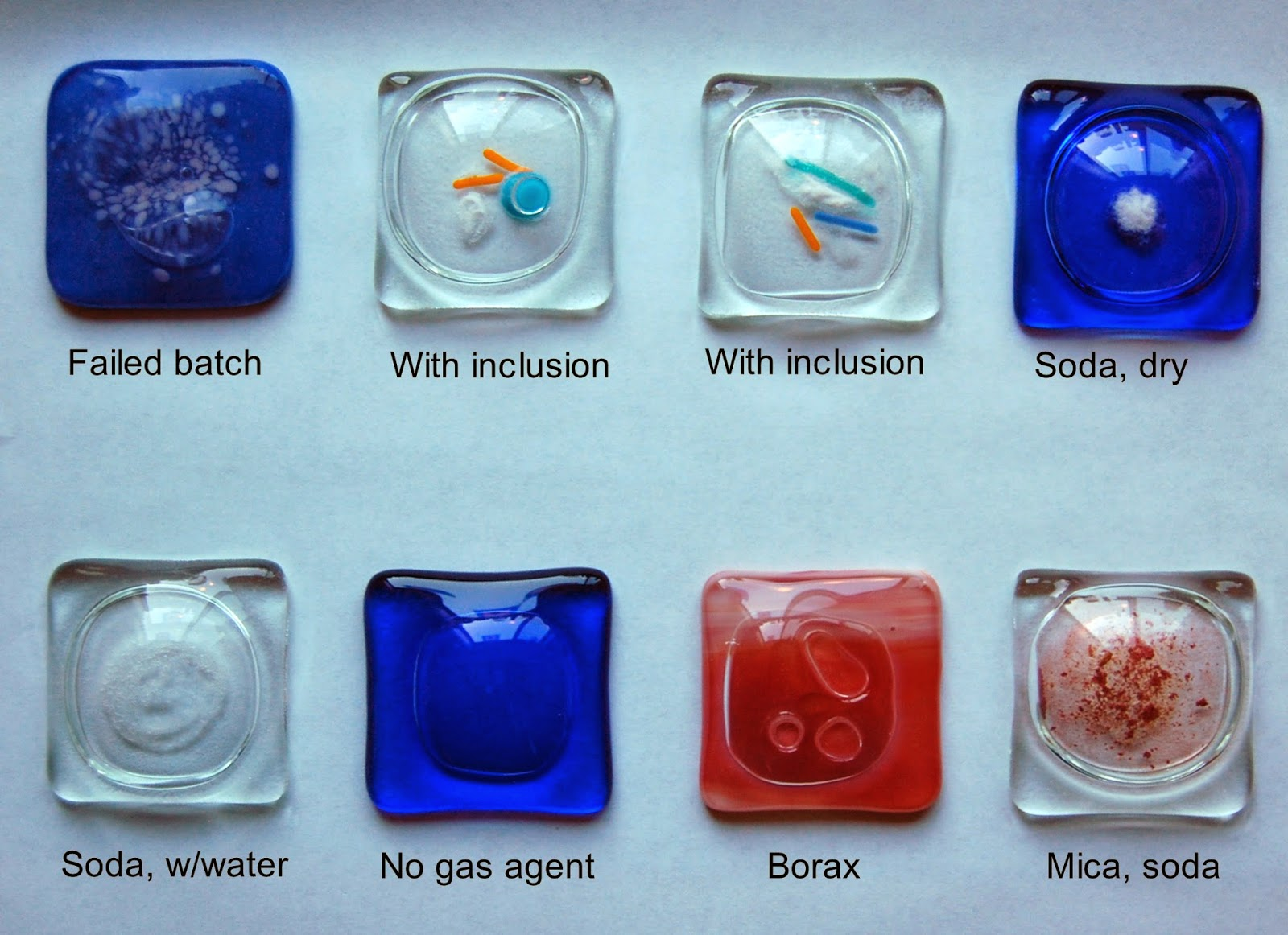 Samples of different bubble experiments