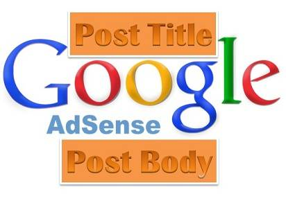 Google Adsense below your post