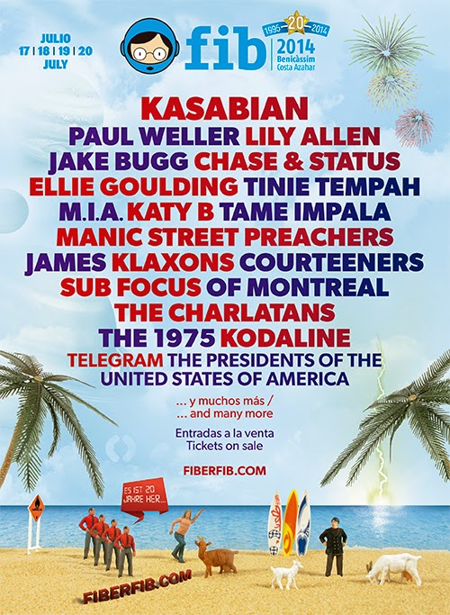 FIB 2014, Cartel, Kasabian, Festival, Paul Weller, Lily Allen