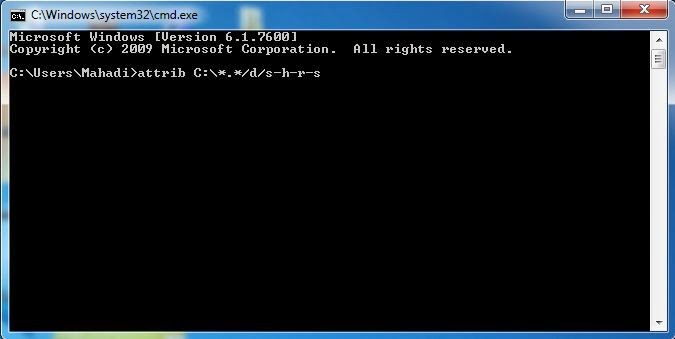 Remove shortcut virus from pc by CMD 2
