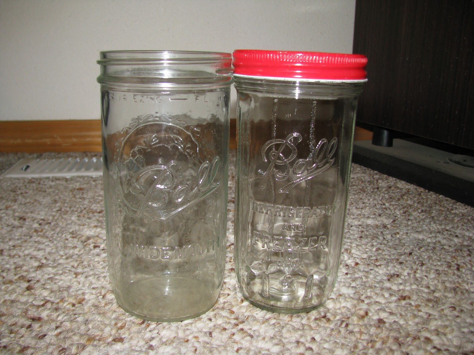 ball freezer jars. Make Sure What You Are Using And/or Buying Is Actually A Canning Jar. Pictured Above Two Ball Freezer Jars That Were Only Manufactured For Short Period