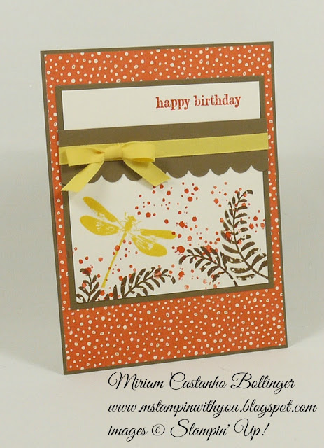 Miriam Castanho Bollinger, #mstampinwithyou, stampin up, demonstrator, dsc, birthday card, awesomely artistic, sweet li'l things dsp, something to say stamp set, scallop trim border punch, su