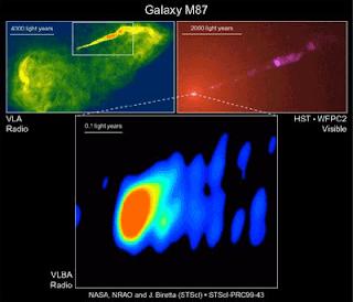 semburan dari galaksi M87
