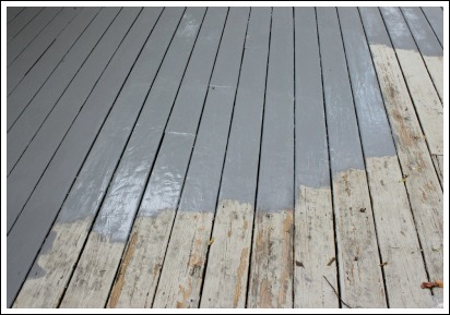 """... Deck Over"""". It covers splinters and cracks up to 1/4 inches. My deck"""