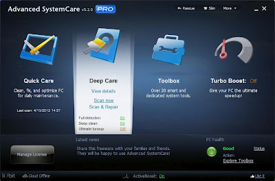 Advanced SystemCare v 5.2.0 PRO | Full Version