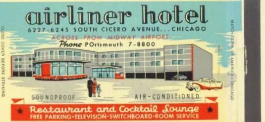Vintage matchbooks, vintage hotel ads