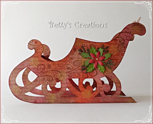 Bettys creations weihnachtsschlitten - Schlitten basteln pappe ...