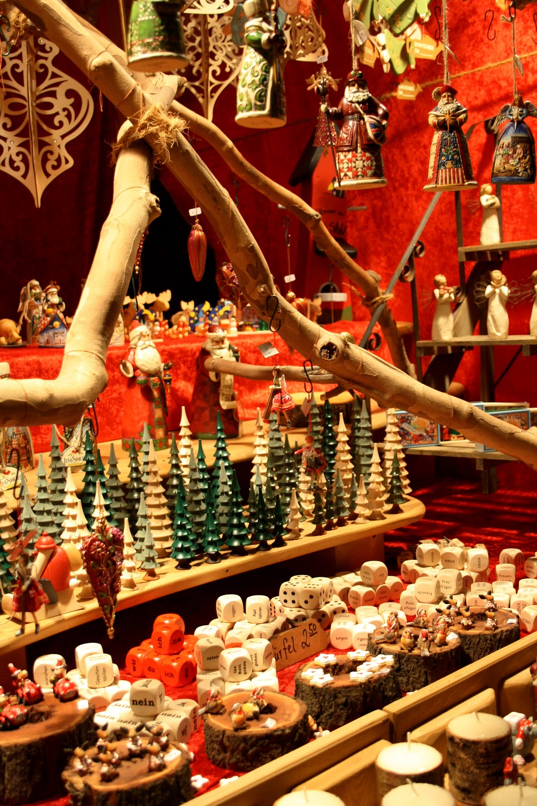 Décorations de noël au marché de noël de Gendarmenmarkt